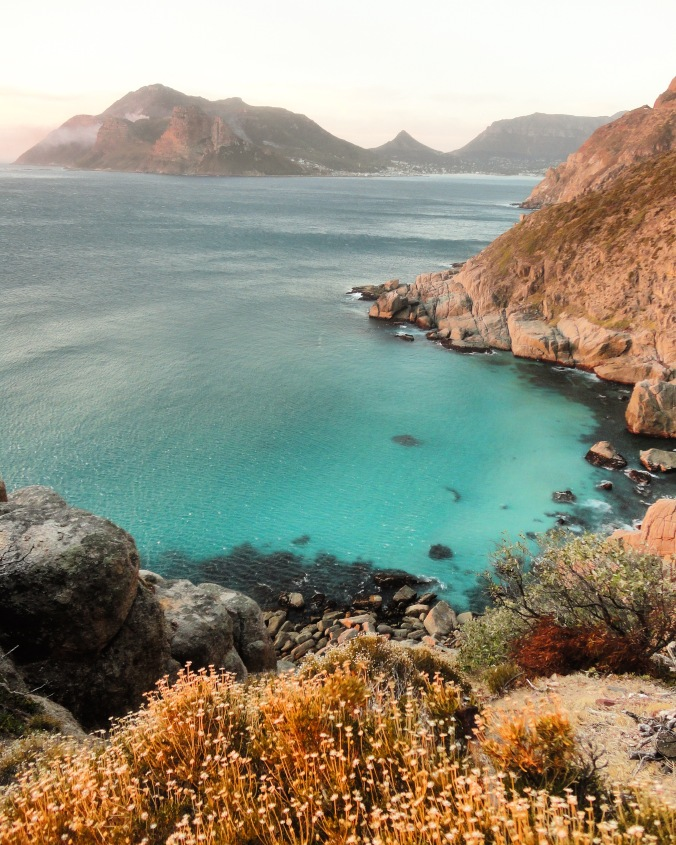 Chapman's Peak at golden hour