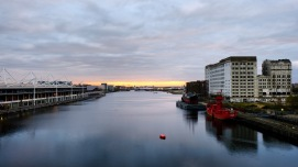 Sunrise at Royal Victoria Dock, London