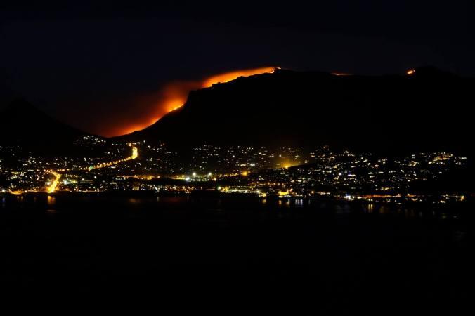 #12ApostlesFire - Hout Bay Night 01